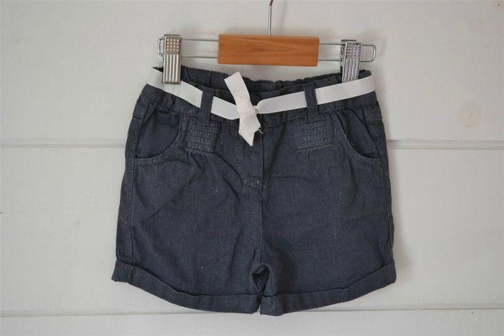 Short en coton gris irisé, taille ajustable, ceinturé Cadet Rousselle - 24M