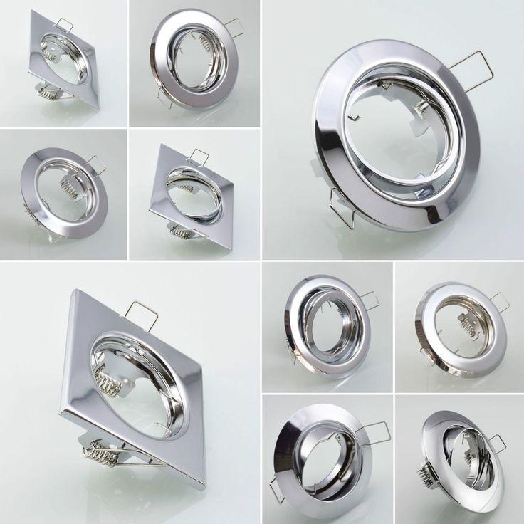 Einbaustrahler CHROM Einbauleuchte Einbaurahmen Einbauspot Spot GU10 Rahmen | eBay
