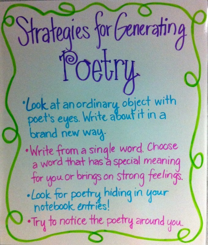 151 best poetry images on pinterest teaching poetry english generating poetry sciox Choice Image