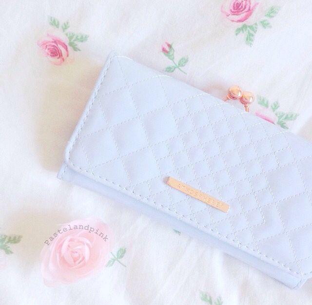 pastel blue clutch ♡