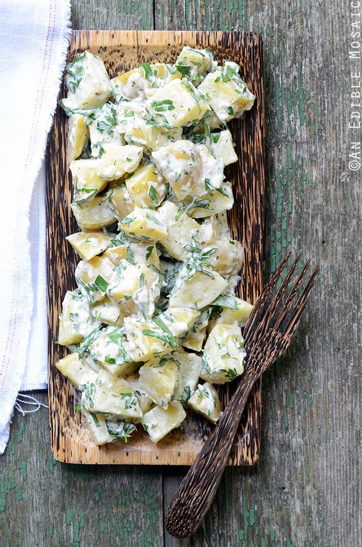Creamy Dijon Potato Salad with Herbes de Provence Recipe - a great side dish for any summer party!