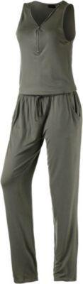 #LASCANA #Damen #Jumpsuit #grün - Lascana Jumpsuit aus weichem Gewebe V-Ausschnitt mit Zip Kordelzug auf Hüfthöhe 2 Eingrifftaschen gerade geschnittenes Bein Material 95% Viskose, 5% Elastan.