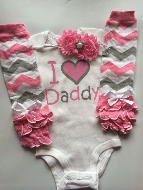 Baby Girl Father's Day outfit - Father's day outfit - Kids father's day shirt - I love daddy shirt-- baby leg warmers