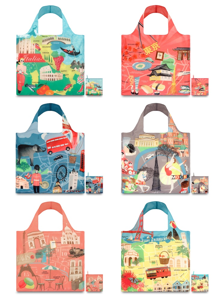 LOQi Urban Collection. These amazing foldable shopping totes are available for only $13.90 at The Planet Traveller