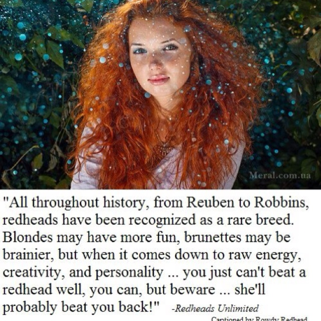 Redhead girls personality