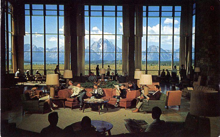 Inside the Jackson Lake Lodge, Grand Teton, Wyoming - Definately ONE of my favorite places!!!