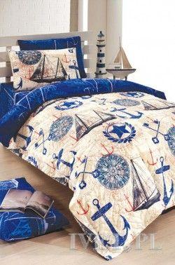 Komplet pościeli MARINA BLUE I bawełna 180x235
