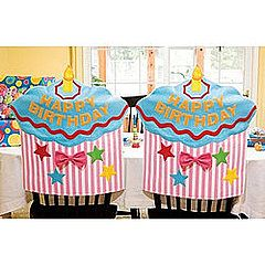 ~ imagine the birthday girl or boy entering the classroom and seeing their very own Birthday Chair waiting for them ~ cupcake-shaped chair cover ($12) ~ could copy this and make a simpler version with a Dr. Seuss theme ~