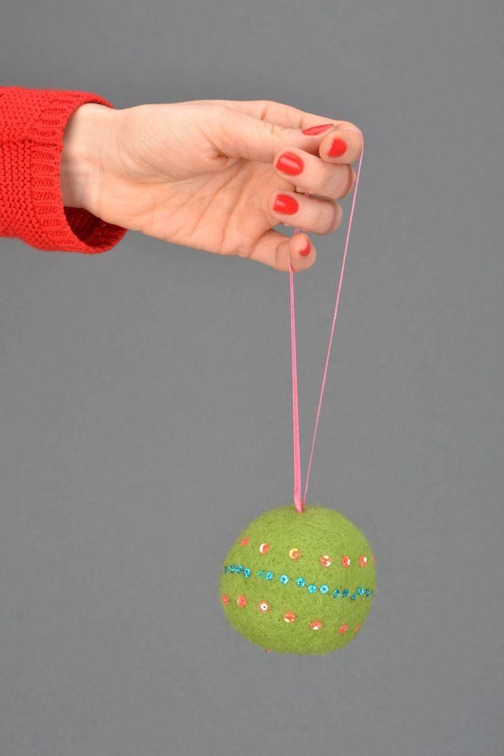 17 mejores ideas sobre bola de fieltro en pinterest - Bolas de navidad de fieltro ...
