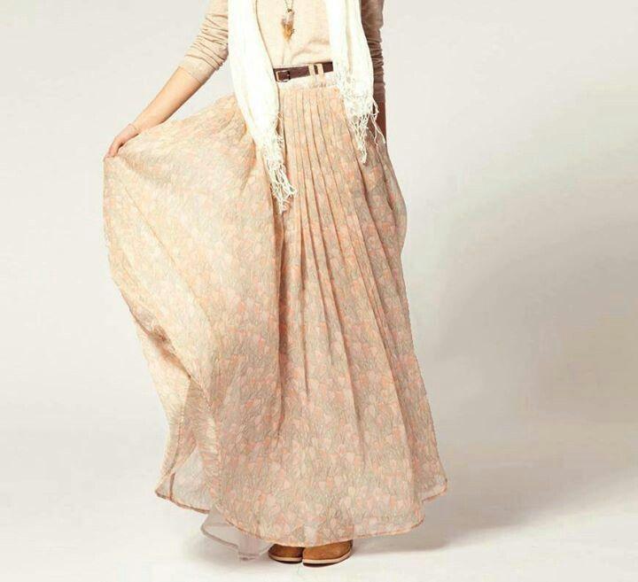Long skirt #hijab