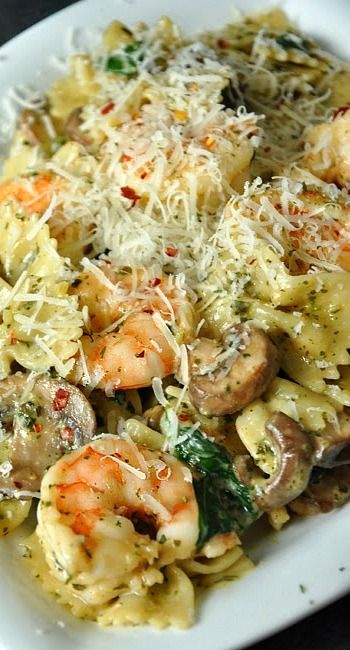 Shrimp and Veggie Pesto Pasta Recipe
