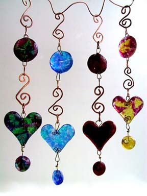 I love hearts in glass maybe I should do some wind chimes in heart glass