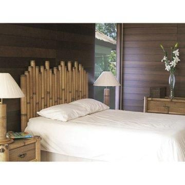 Bamboo headboard.