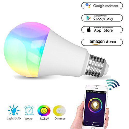 Ampoule intelligente à LED Hue WiFi, Culot B22Lampe de couleur Fonctionne avec Amazon Alexa et Google Home, Changement de couleur RGBW, 60W, Contrôlé à l'aide d'appareils iOS/Android, Sans hub, LED d'ambiance, Lumière de fête ou décorative, Blanc chaud [Classe énergétique A +], Silver, e27, 7.00 wattsW 265.0 voltsV #Ampoule #intelligente #WiFi, #Culot #BLampe #couleur #Fonctionne #avec #Amazon #Alexa #Google #Home, #Changement #RGBW, #W, #Contrôlé #l'aide #d'appareils #iOS/Android, #Sans…