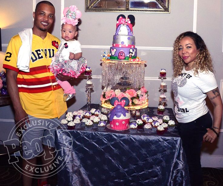 "There's a mouse in the house!  Rapper T.I. and Tameka ""Tiny"" Harris celebrated their youngest daughter Heiress' first birthday..."