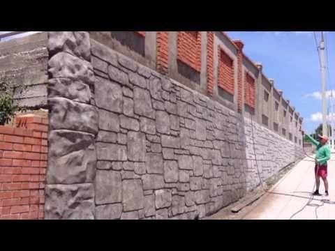 """Забор под камень и травертин. Декоративный бетон. - YouTube  Отделка стен и  полов декоративно-художественная творческого альянса """"Эффект-Профи"""". Отделка стен под камень, кирпич, дерево, металл... Фасады, интерьеры, заборы, ступени, полы,садовые дорожки, барбекю, камины, пруды... т. 8 (918) 45 48 996"""