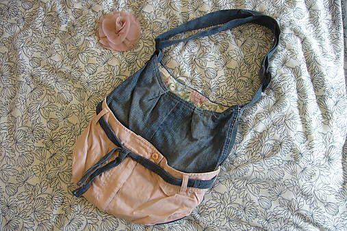 ..ružovo riflová kabelka..