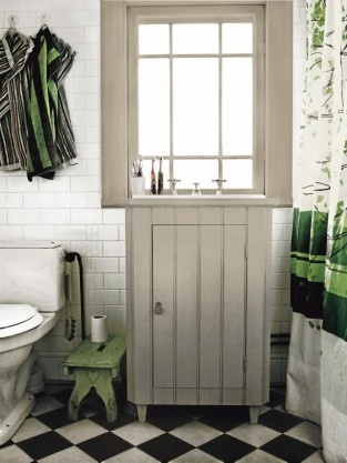 bathroom in 18th century house outside Stockholm (Gustaf Willers)