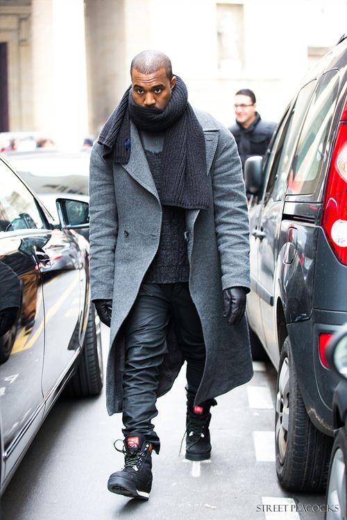 Kanye after the Maison Martin Margiela show