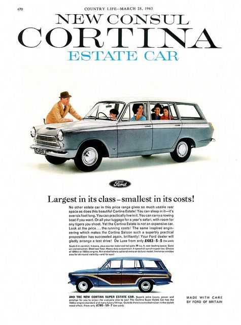 Ford consul cortina mki estate car advertisement taken for Consul definition