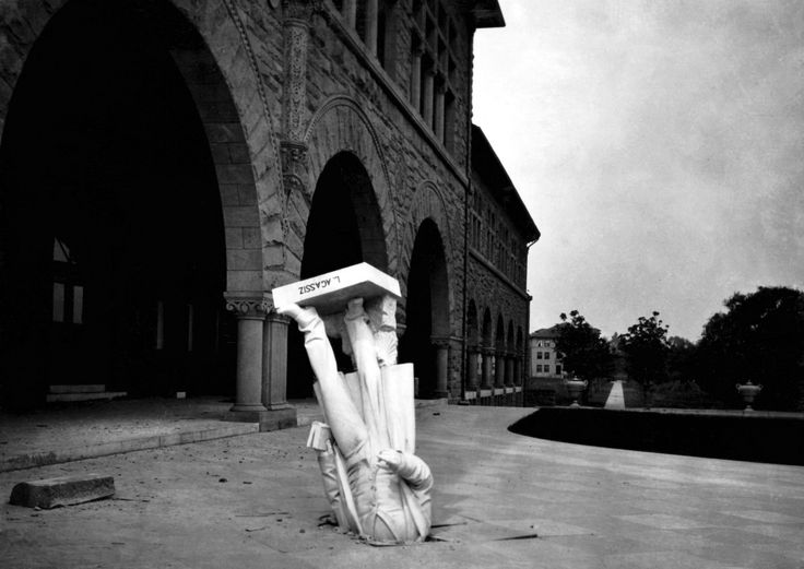 The Statue of Louis Agassiz After the San Francisco Earthquake, 1906