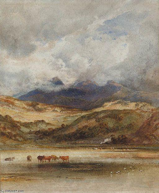 Traeth Mawr, Port Maddock, North Wales de Anthony Vandyke Copley Fielding (1787-1855, United Kingdom)