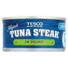 Tesco Tuna Steaks Pole And Line In Brine 198G
