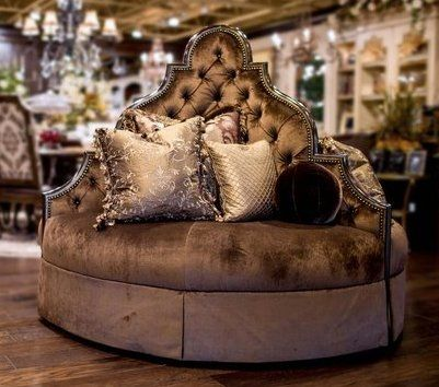 Round Couch Chair | Luxury Furniture At Its Finest. Unique High Style Round  Sofa Foyer