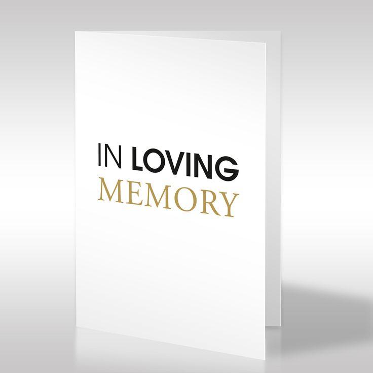 """Die puristische Trauerkarte, welche die räumliche Wirkung von Text und Weißraum nutzt, besticht durch ihr modernes und klares Design. Im Zentrum der Karten steht in großen Buchstaben auf weißem Grund """"IN LOVING MEMORY"""". Diese englische Aussage ist ein typischer Trauersatz, der weltweit verstanden wird und bedeutet, dass der Verstorbene bei den Hinterbliebenen ewig in liebevoller Erinnerung bleibt. https://www.design-trauerkarten.de/produkt/form-der-worte-7/"""