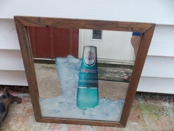 Vintage Seagram's Seagrams Wine Cooler Advertising Mirror Party