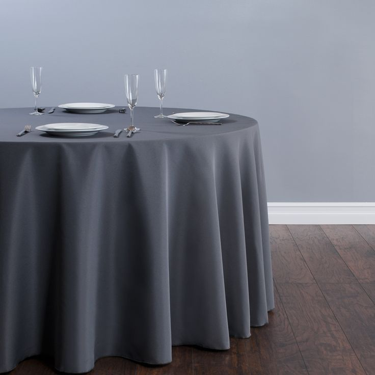 120 in round polyester tablecloth charcoal restaurant for 120 table cloth
