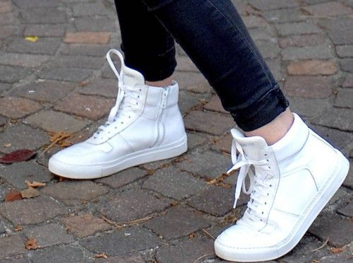 Back to the Future in White Sneakers!