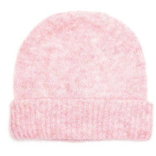 American Vintage Vacaville Beanie Hat - Candy featuring polyvore, fashion, accessories, hats, candy, beanie hats and american vintage