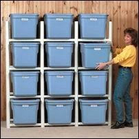 This DIY PVC bin organiser would make any garage look a lot better and would give easier access to your stuff!
