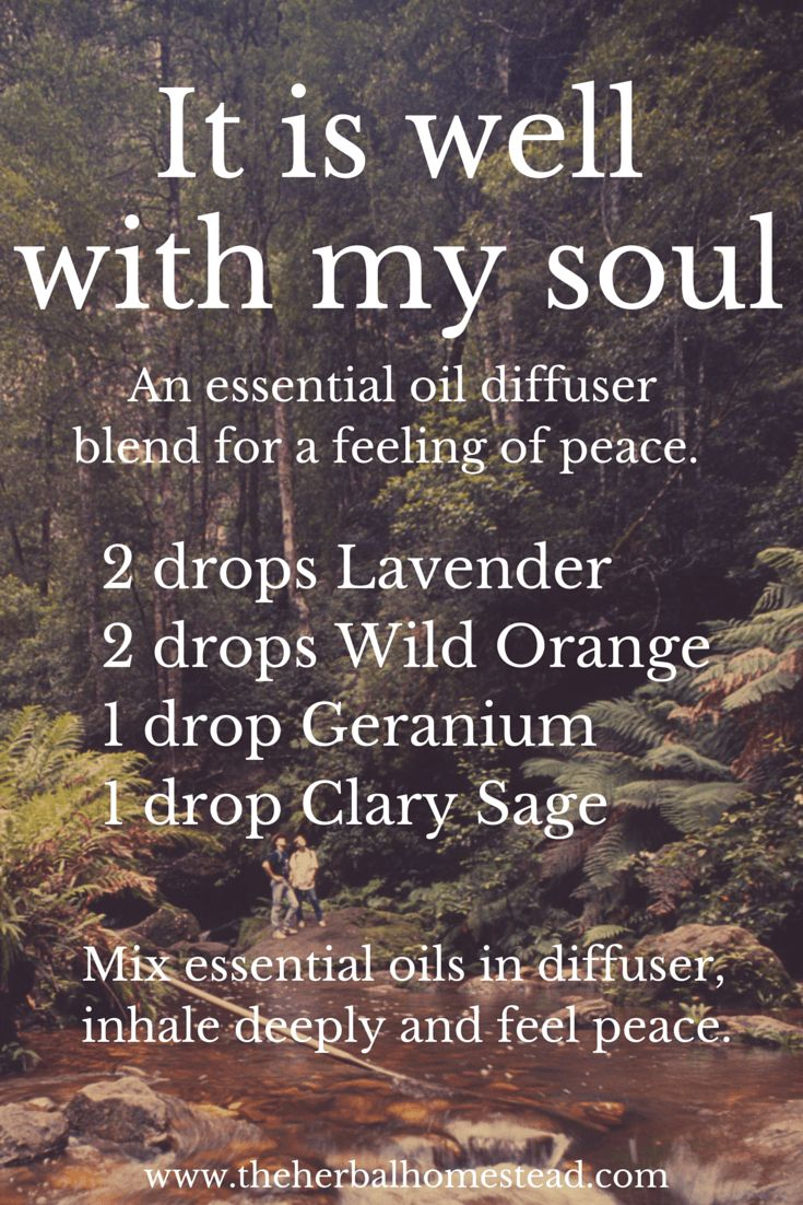 It is well with my soul. A combination recipe that has been used by others for a sense of peace.  #Lavender #essentialoils #stress http://yldist.com/a2z4health/