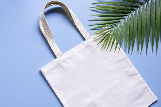 Download White Tote Bag Canvas Fabric Cloth Shopping Sack Mockup With Copy Space White Tote Bag Bag Mockup Tote Bag