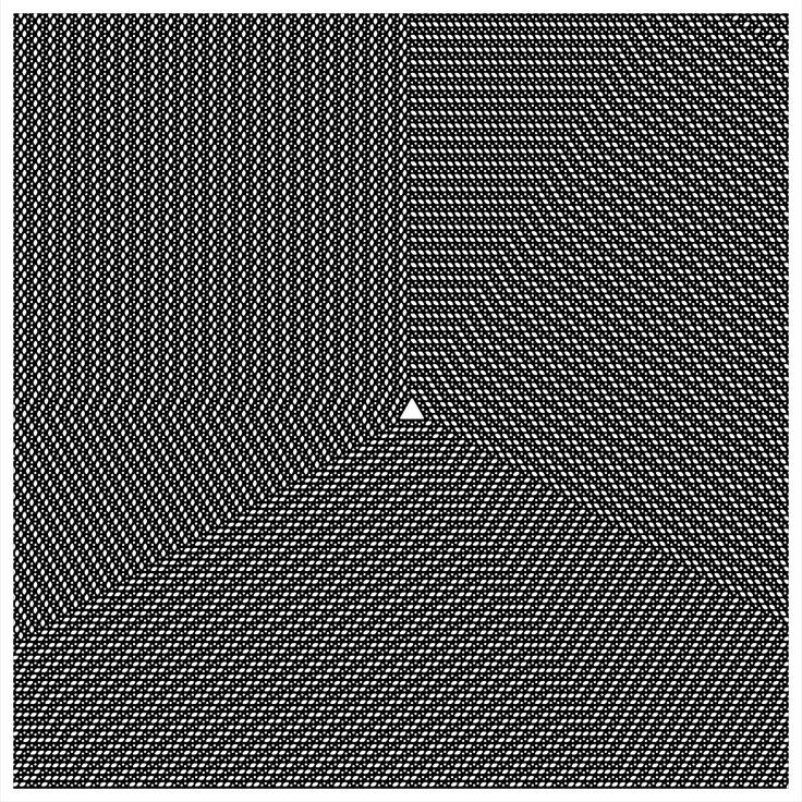 "'Signal & Noise 02-02-2017 # 1' © 2017 Titus Hora 150 x 150cm (54"" x 54"") digital print #abstract #procedural #parametric #generative"