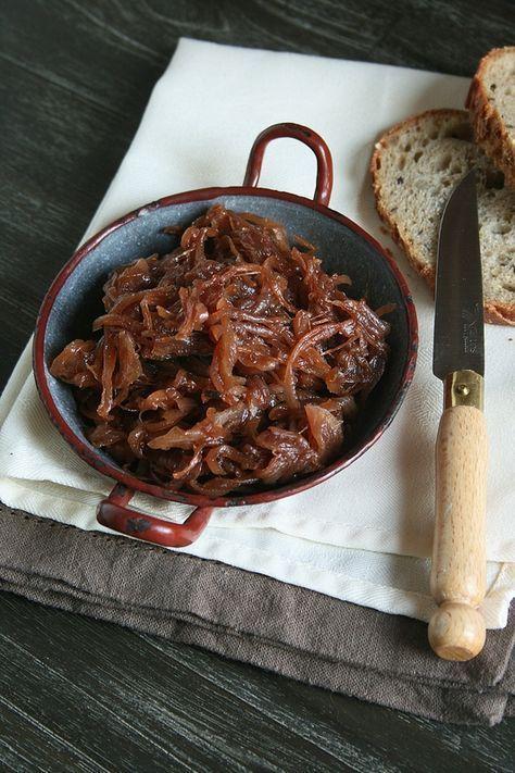 Oignons confits pour accompagner le foie gras