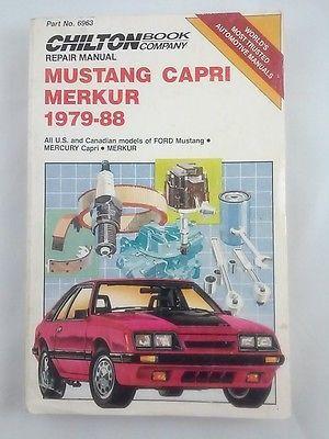 chilton repair manual for mustang mercury capri merkur xr4ti 1979 rh pinterest com Auto Repair Manuals PDF Chevy 4x4 Repair Manual
