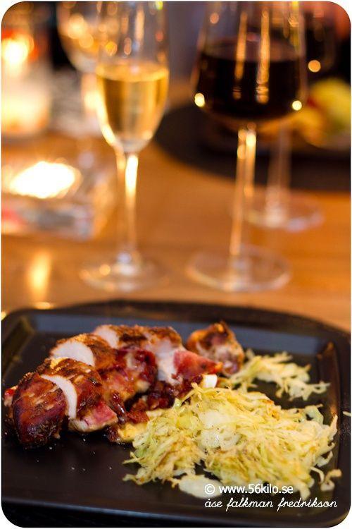 Salami och brie fylld kyckling  Middag