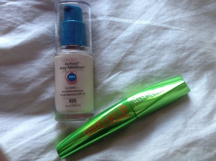 Covergirl Outlast Stay Fabulous 3 in 1 Foundation SPF 20 and the new Rimmel London Wonderfull Wake Me Up Mascara with Vitamins and Cucumber Extracts.  Both products purchased from Priceline
