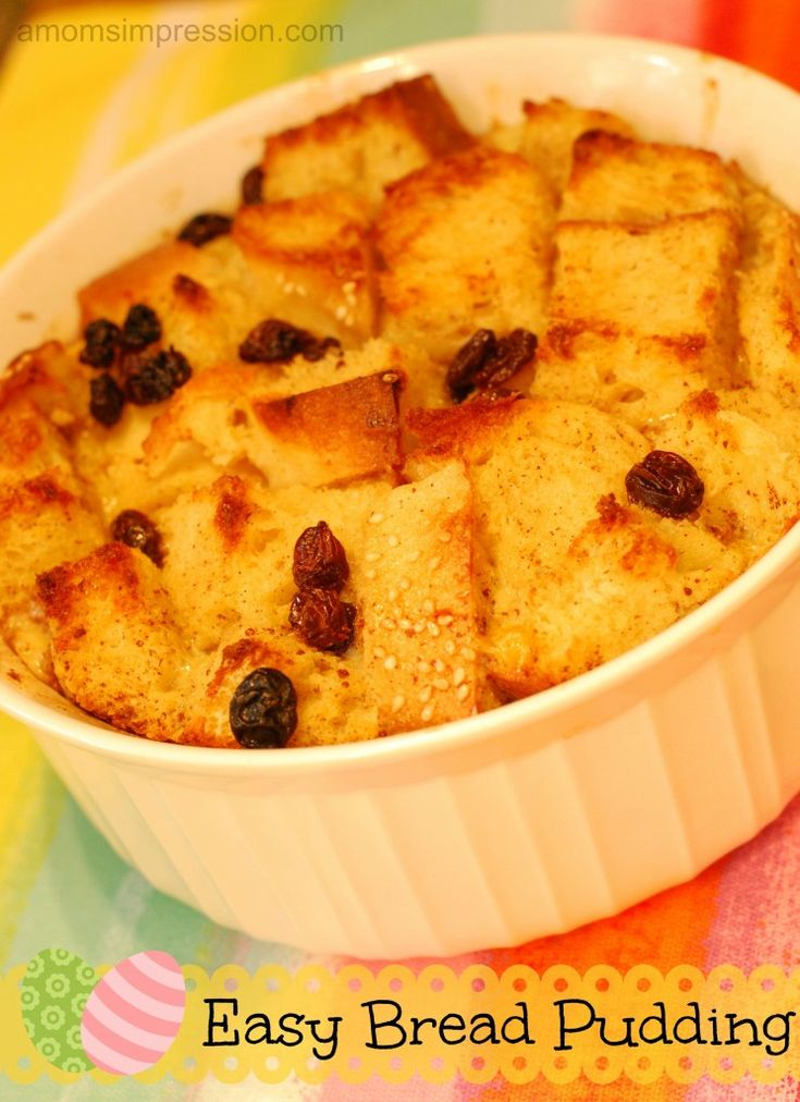 Easy Bread Pudding Recipe. I modified it a little bit by adding a butter sauce at the end. 1/4 c. white sugar, 2 T brown sugar, 1/2 c. butter, 1/2 c. milk, 3/4 t. vanilla extract, 1/4 t. rum extract. Mix all together in a saucepan and heat/stir until boiling. DeLISH.
