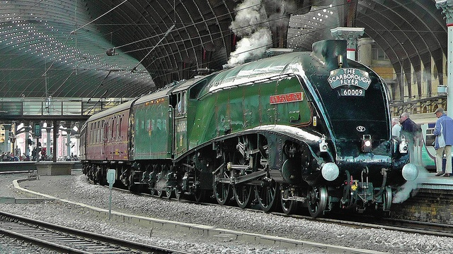 LNER A4 Pacific No 60009 'Union of South Africa' at York - 'The Scarborough Flyer' (1Z80) #flickr #steam #train