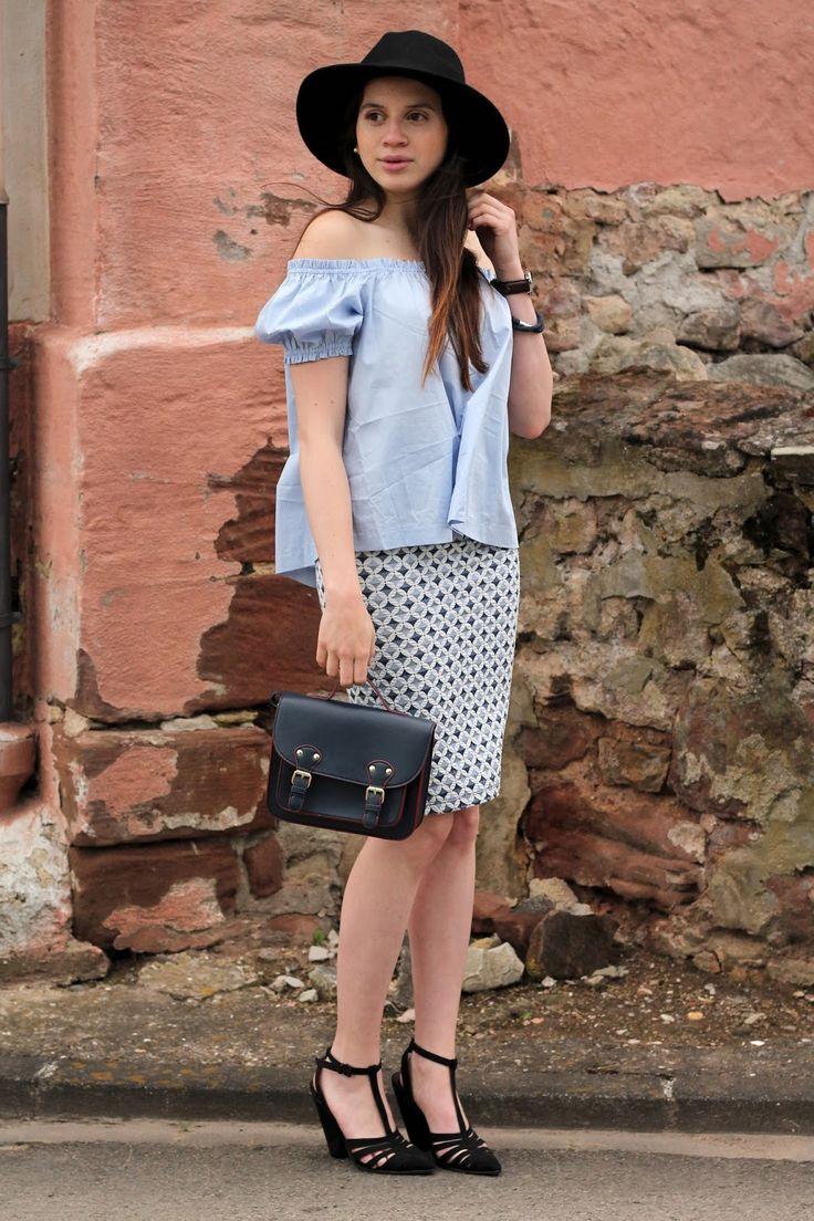 www.haileighandjamie.com Baby Blue ladylike with Fedora Hat