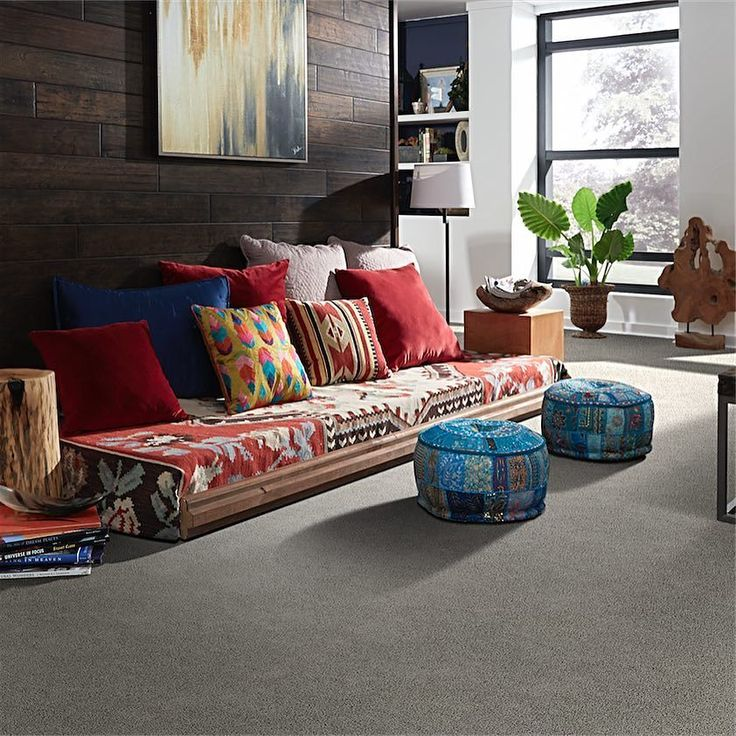 Carpet just adds so much warmth to a space when its combined with other textures