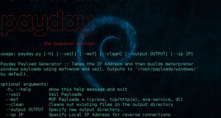 payday – Payload generator that uses Metasploit and Veil  – Security