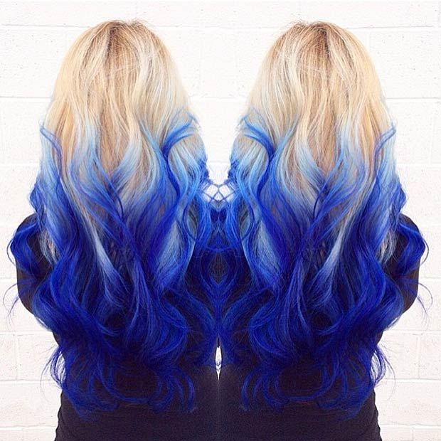 Best 25 Blonde And Blue Hair Ideas On Pinterest With Color Pastel Dip Dyed