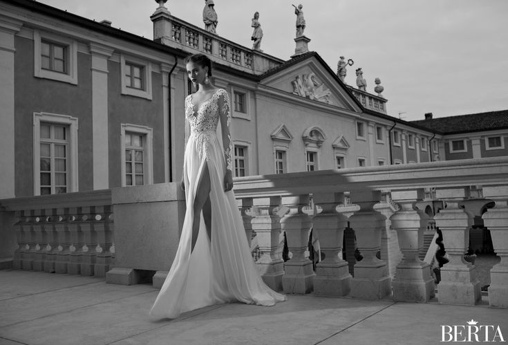 Berta Winter 2014 Bridal Collection - Slit up the side! OMG!