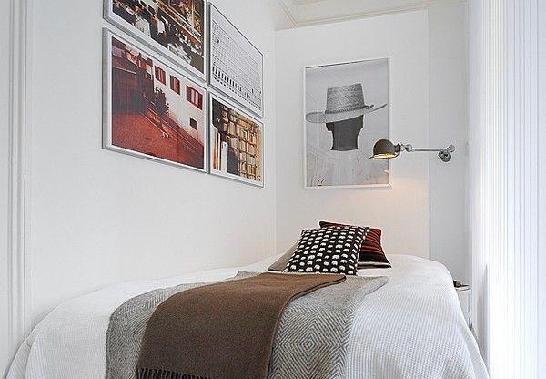 Slaapkamer in een klein appartement