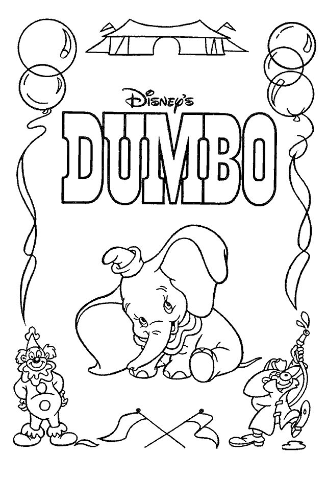104 best Disney Dumbo Coloring Pages images on Pinterest